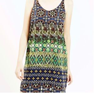 Topshop Tribal Print slip dress